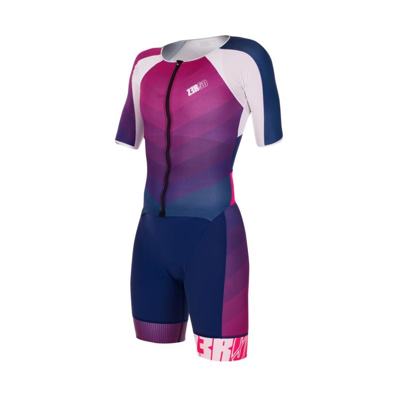 RACER TT SUIT  Woman / dark blue-pink