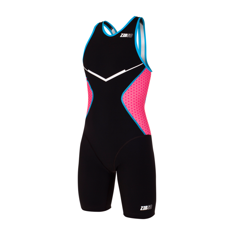 RACER TRISUIT  Woman / black-pink-atoll